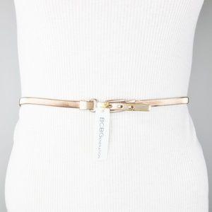 Rose Gold Chain Stretch Belt